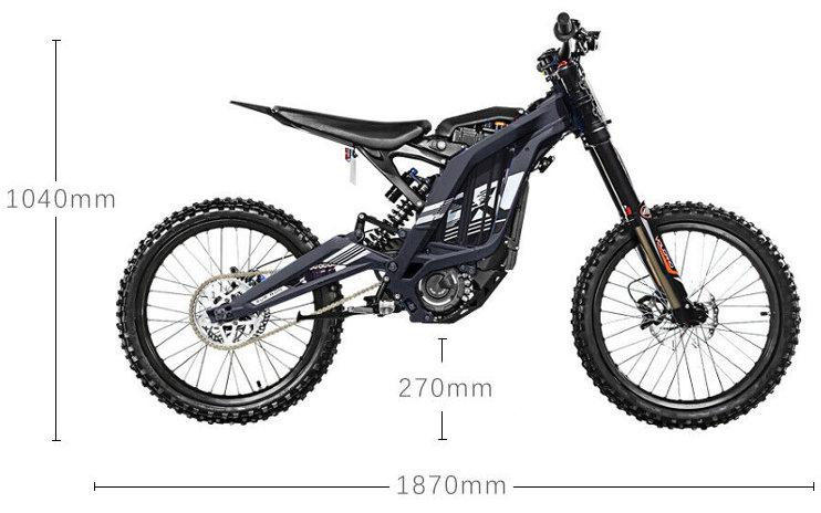 motocross elettrico misure