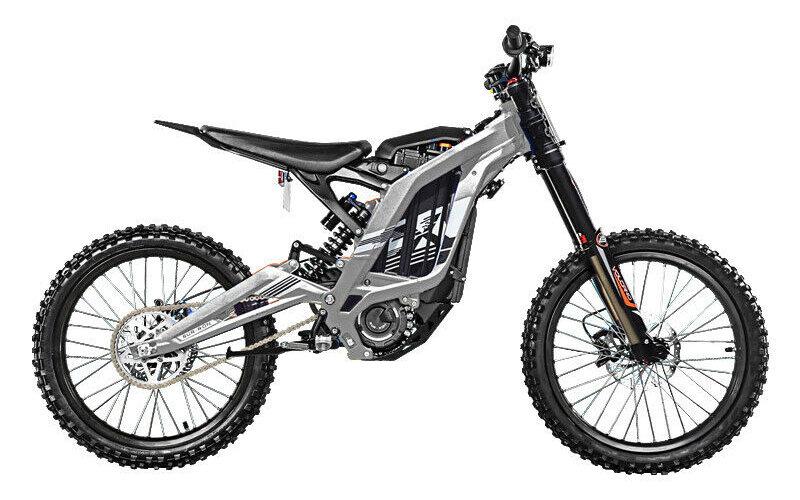 moto cross elettrica grigio
